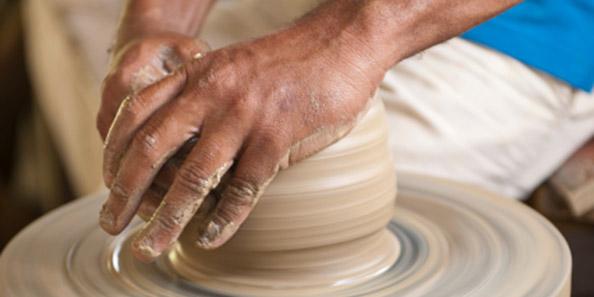 potters' hands
